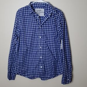 Frank & Eileen Blue Plaid Shirt